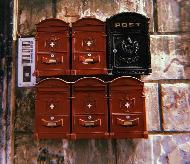 boite aux lettres plaque